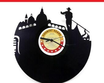 Venice Vinyl Clock