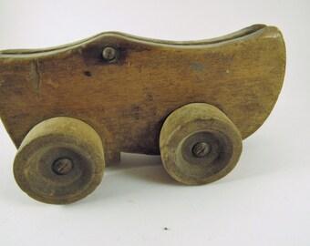"Vintage Wooden ""Dutch"" Shoe Pull Toy"