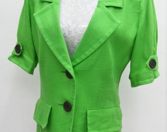 YVES Saint Laurent Vintage YVES Saint Laurent Green Casual Blazer Coat Size M