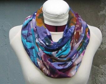 Tropical Accessories - Pastel Scarf - Aquamarine Scarf - Lavender Scarf - Tropical Scarf - Tropical Outfit - Purple Infinity Scarf