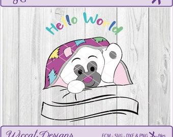 Bear svg, Teddy Bear svg, newborn svg, Nursery svg, baby bear svg, Hello svg, baby shower svg, vinyl decal, scanncut, fcm  file, dxf  file