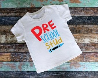 Preschool Stud Boy Shirt - Adorable youth shirt for preschool Raglan Shirt , baseball tee, saying shirt, school shirt, preschool, boy shirt