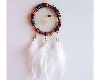 Beautiful Wooden Feather Bead  Dream Catcher