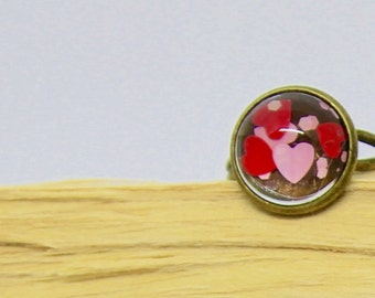 Heart Ring - Heart Confetti Ring - Heart Jewellery - Statement Ring