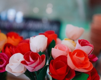 Small Crepe Paper Flowers