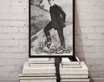 Roller Skating Photo, Roller Skates, Sports Decor, Gift for Roller Skaters, Roller Skate Art, Old Roller Skates, Black and White