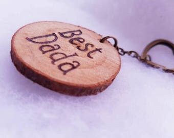 Personalised keyring, photo keyring, wooden keychain, photo gift, pyrography, tree slice keychain, log slice, custom keyring,name on keyring