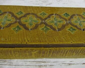 Italian Midcentury Ceramic Jewelry ~ Cigarette Box ~ Bitossi Aldo Londi ~ A Nora Fenton Import ~ Italian Pottery~ Londi Bitossi