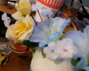 Adjustable Blue Flower Crown