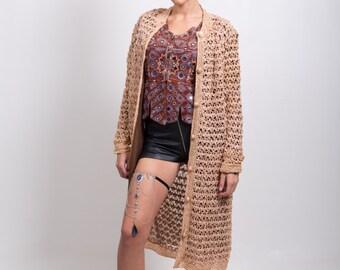 Vintage crochet duster jacket