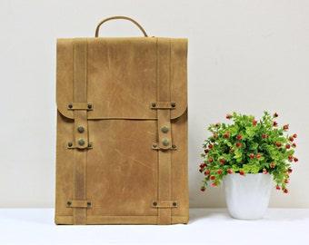 Minimalist backpack. men leather backpack, laptop backpack, mens rucksack, hipster backpack, leather backpack, leather rucksack, backpack