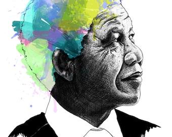 Mandela, Nelson // Portrait Art Print