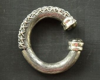 Silver Cuff Bracelet for Women Indian Jewelry India Silver Bangle Bracelet Spiritual Jewelry Yoga Gifts Gypsy Jewelry Silver Kada