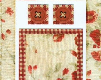 Red Posies Cardstock Frame My Mind's Eye This & That Scrapbook  Embellishments Cardmaking Crafts