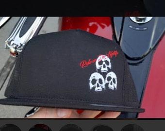 Skull Trucker Snapback. Hat. Skulls. Biker