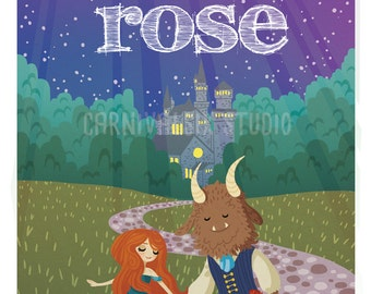 Beauty and the Beast - Children's Illustration - Fairy Tale - Art Print