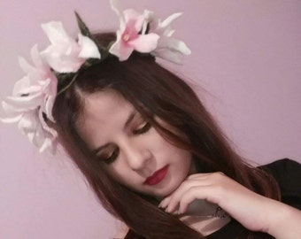 Flower Headband Garland Crown Festival Wedding Hair Wreath BOHO Floral Headband