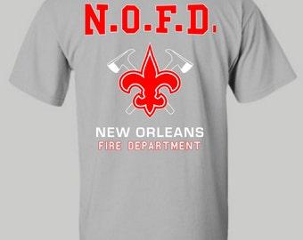 New Orleans Fire Department shirt, New Orleans FD, Hoodie, Long sleeve shirt, T Shirt