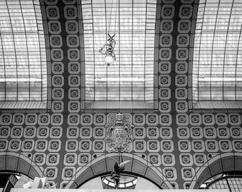 Musée d'Orsay, Paris Photography, French Home Decor, Black and White, Paris Print, Fine Art Photography, Paris Wall Art, Paris Architecture