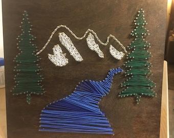 Mountain Scape String Art