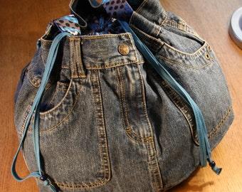 Shoulder Bag Jeans Fabric
