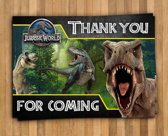 Jurassic World Park Dinosaurs Digital Birthday Thank You Card
