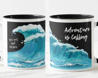 Adventure Is Calling // Inspirational Mug // Adventure Mug // Motivational Mug   - 11 or 15oz