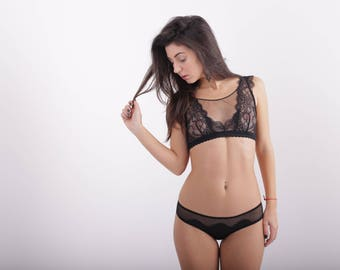 "Lace Black top bra ""Grace"""