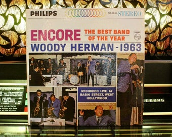 JAZZ RECORD: Woody Herman - Encore - Jazz Vinyl Record - Music On Vinyl - RARE Vintage Vinyl Records - Great Gift!