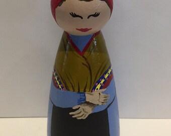 St. Bernadette Peg Doll