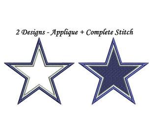 Dallas Cowboys Embroidery Design - applique + fill 2 separate designs