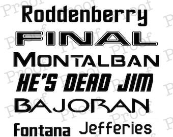 Star Trek Font Collection!