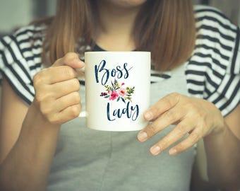 Boss Lady Mug, Boss Lady Coffee Mug, Floral Boss Lady Mug, Flower Boss Lady Mug, Cute Boss Lady Mug, Boss Lady Mugs, Girl Boss, Lady Boss