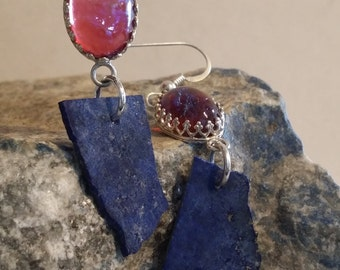 Dragons Breath & Lapis Earrings
