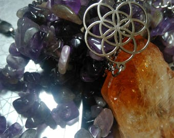 NEW : Stainless steel seed of life bracelet flower of life
