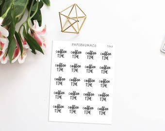 coffee time text lettering stickers for bullet journals and planners ECLP MAMBI - T047