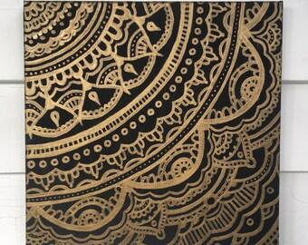 Square Mandala Pattern Painting