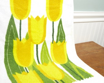 Vintage Kitchen Towel - Kitchen Dish Cloth - Tulip Towel - Retro kithchen