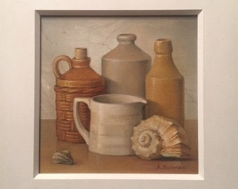 Still Life With Shells - Oil Painting - Fine Art Painting - Original Irish Art