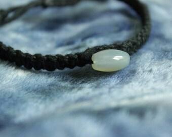 Chalcedony Macrame Adjustable Bracelet