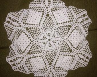 Hexagon doily 8.5in