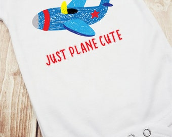 Just Plane Cute Airplane Infant Bodysuit, Airplane Bodysuit, Airplane Romper, Infant Romper, Cute Boy Outfit, Funny Boy Shirt, Cute Baby