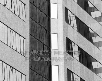 Modern black and white architectural photography. Charlotte print #6.