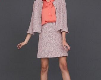 Elegant Blazer / Pink Buttons Up Cardigan / Minimalist Style by BATTIBALENO / V814