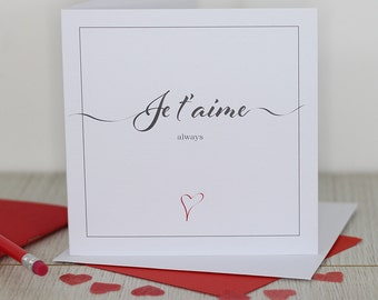 Love card - Je t'aime always
