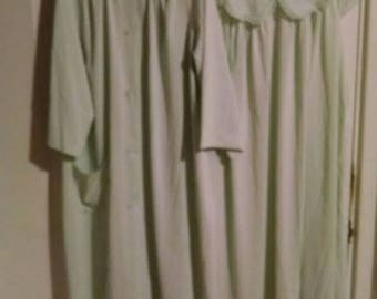 Mint Green 1960s Shadowline peignoir - robe and gown set