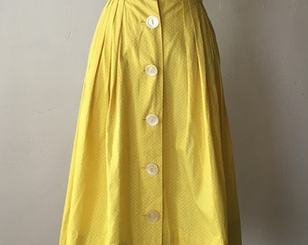 1950s Yellow w/ White Polka Dots Skirt