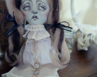 "OOAK Cloth Art Doll ""Evelyn & Esther"""