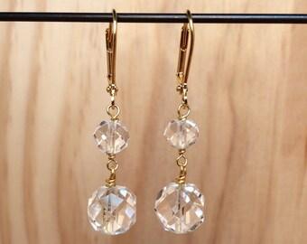 Gold & Crystal Earrings II