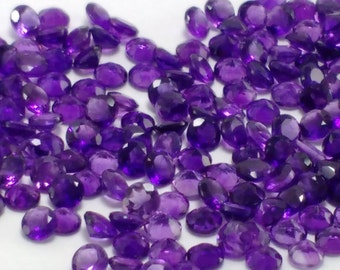 10% sale 25 pcs Natural rounds african Amethyst Round Faceted -5x5 mm Faceted Cut Round AAAA Grade Purple Amethyst-Best Quality Gemstone